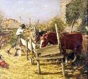 Henry Herbert La Thangue The Appian Way oil painting artist