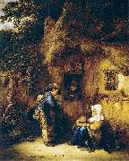 Isaac van Ostade Traveller at a Cottage Door oil painting