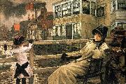 James Tissot Waiting for the Ferry oil painting reproduction