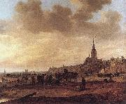 Jan van  Goyen Beach at Scheveningen oil painting artist