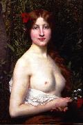 Jules Joseph Lefebvre Half Length Demi Nude oil painting reproduction