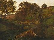Julian Ashton Evening, Merri Creek oil painting artist