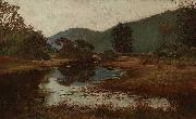 Julian Ashton A Waterhole on the Hawkesbury oil painting artist