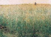 Karl Nordstrom Oat Field, Grez oil painting reproduction
