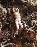 Michiel Coxie Torture of St George. oil