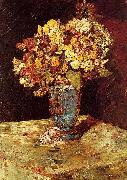 Monticelli, Adolphe-Joseph Still Life with Wild and Garden Flowers oil painting artist