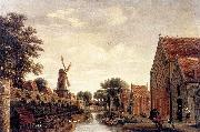 POST, Pieter Jansz The Delft City Wall with the Houttuinen oil painting artist