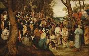 Pieter Brueghel the Younger The Preaching of St. John the Baptist. oil painting