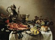 Pieter Claesz Tafel mit Hummer oil painting reproduction