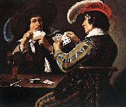 Theodoor Rombouts The Card Players oil painting artist
