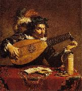 Theodoor Rombouts The Lute Player oil painting artist