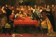 Valentine Cameron Prinsep Prints A Venetian Gaming-House in the Sixteenth Century oil