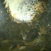 WITHOOS, Mathias Otter in a Landscape oil painting artist