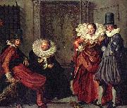 Willem Pieterszoon Buytewech Dignified couples courting oil