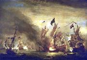 Willem Van de Velde The Younger Royal James  at the Battle of Solebay oil painting