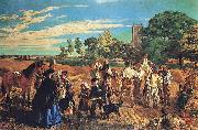 William Maw Egley A Harvest Scene in Norfolk oil painting artist