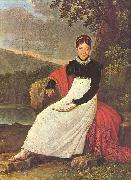 unknow artist Queen Caroline (Bonaparte) of Naples in the tradiontal costume of a Neapolitean farmer. oil painting reproduction