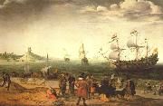 Adam Willaerts The painting Coastal Landscape with Ships oil painting