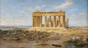 Adolf Bohm Die Akropolis oil painting