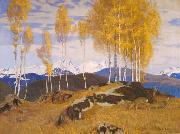 Adrian Scott Stokes Autumn in the Mountains oil painting