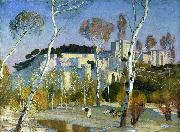 Adrian Scott Stokes Palace of the Popes at Avignon oil painting
