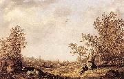 Aelbert Cuyp Meadow with Cows and Herdsmen oil