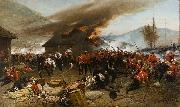 Alphonse-Marie-Adolphe de Neuville The defence of Rorke's Drift oil painting