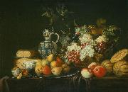 Andreas Stech Still life with a squirrel and a pitcher oil painting