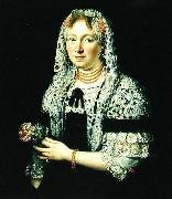 Andreas Stech Portrait of a Patrician Lady from Gdansk. oil painting