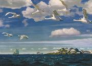 Arkady Alexandrovich Rylov In the Blue Expanse oil painting
