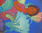 Arman Manookian 'Polynesian Girl' oil painting