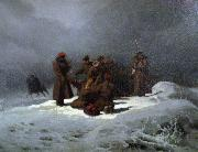 Artur Grottger Foot March to Siberia oil painting