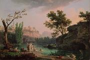 Claude Joseph Vernet Landscape in Italy oil painting artist