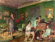 Edouard Vuillard Madame Andre Wormser and her Children oil painting reproduction