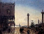 Friedrich Paul Nerly Piazza San Marco At Night oil painting