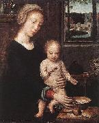 Gerard David Madonna and Child with the Milk Soup oil