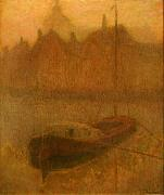 Henri Le Sidaner Boat on the Canal oil painting artist