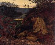 Henry Wallis The Stonebreaker oil