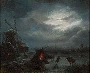 Jan Baptiste Vanmour Nocturnal View of the Ice oil painting artist
