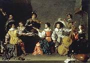 Jan van Bijlert Music society oil painting artist