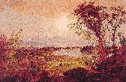 Jasper Francis Cropsey A Bend in the River oil painting reproduction