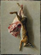Jean-Baptiste Oudry A Hare and a Leg of Lamb oil painting