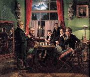 Johann Erdmann Hummel Chess Players oil painting artist
