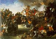 Johann Peter Krafft Zrenyis Charge from the Fortress of Szigetvar oil