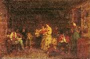 Jonathan Eastman Johnson Fiddling His Way oil painting artist