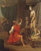 Laurent Pecheux Pygmalion and Galatea oil