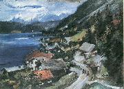 Lovis Corinth Walchensee, Serpentine oil painting reproduction