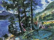 Lovis Corinth Walchensee mit Springbrunnen oil painting reproduction