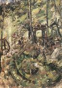Lovis Corinth Walchensee, Springbrunnen oil painting reproduction