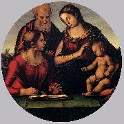 Luca Signorelli The Holy Family with Saint oil painting artist